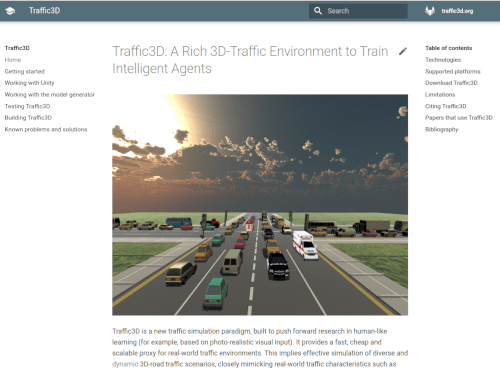 Traffic3D project website.